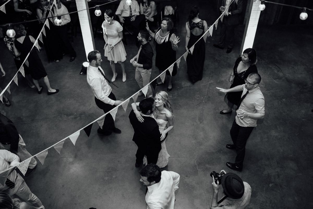 bride-groom-dancing-from-above Becky and Alex | Green Door Gourmet - Fall Nashville Wedding