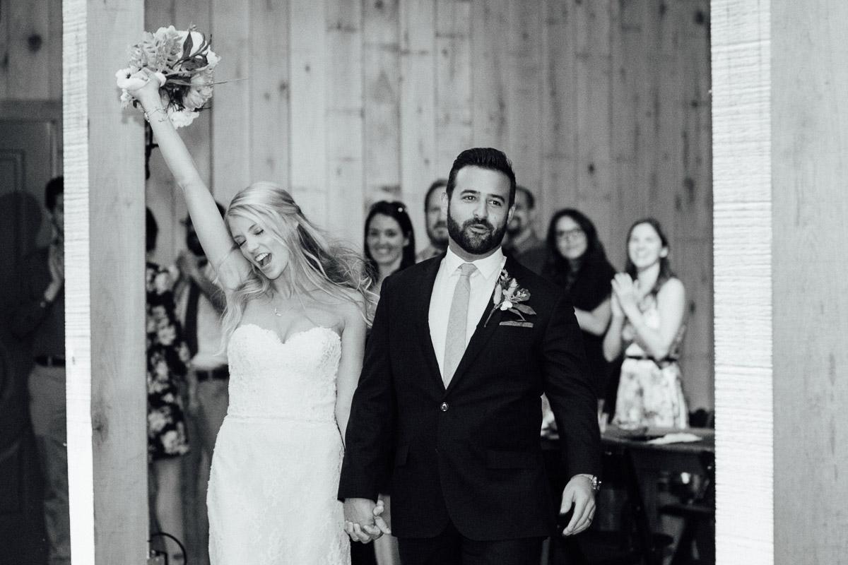 bride-groom-entrance Becky and Alex | Green Door Gourmet - Fall Nashville Wedding