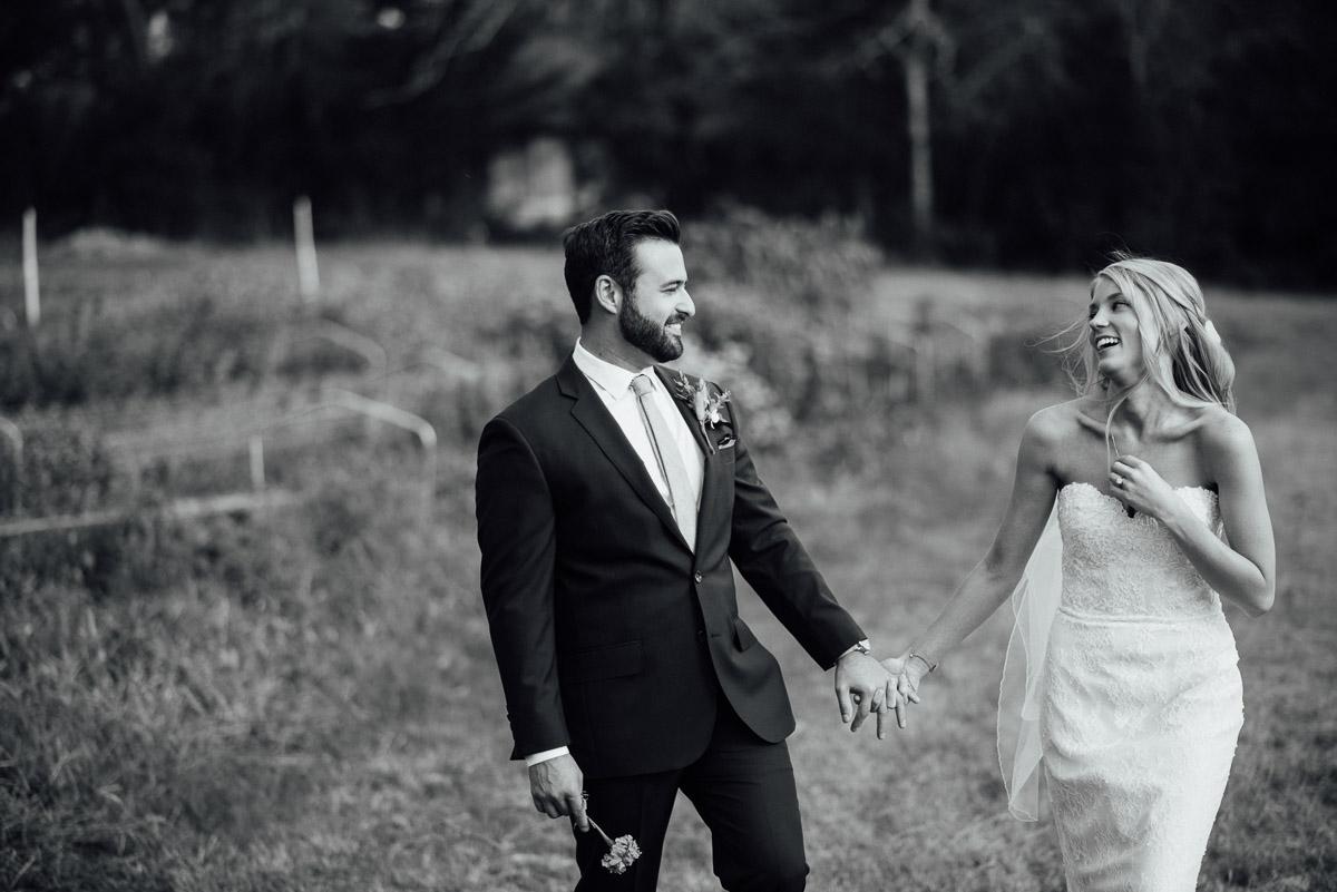bride-groom-walking Becky and Alex | Green Door Gourmet - Fall Nashville Wedding
