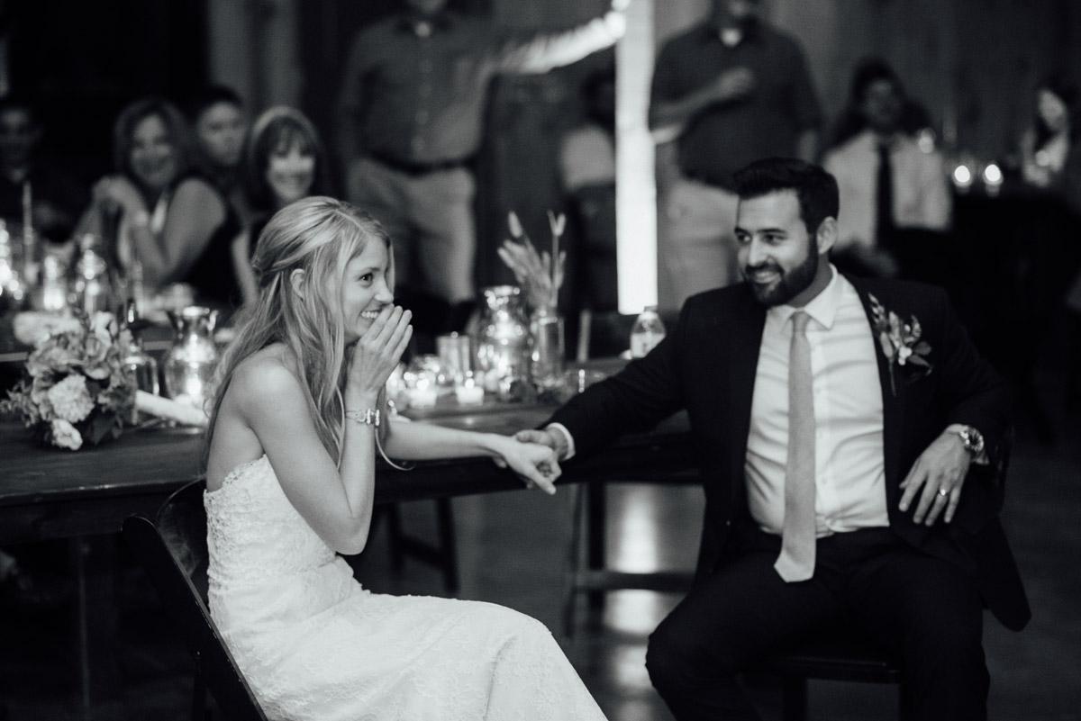 bride-lauging Becky and Alex | Green Door Gourmet - Fall Nashville Wedding