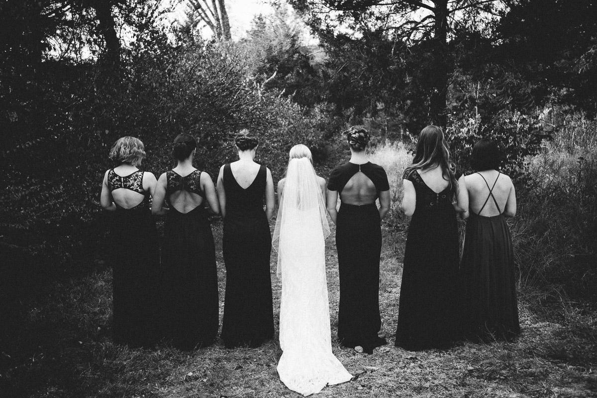 bridesmaids-mismatched-dresses Becky and Alex | Green Door Gourmet - Fall Nashville Wedding