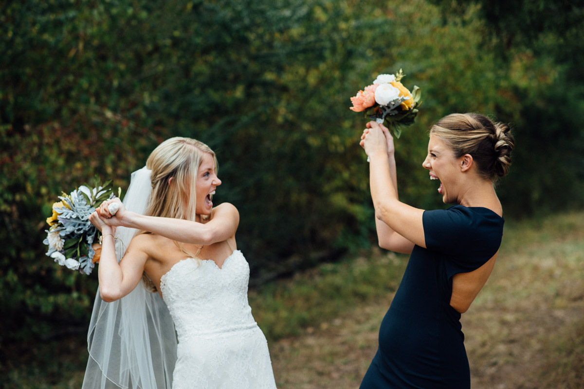 dueling-bridesmaid-bride Becky and Alex | Green Door Gourmet - Fall Nashville Wedding