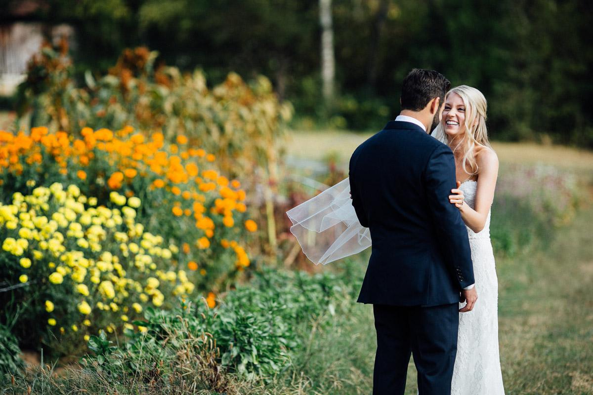 excited-bride Becky and Alex | Green Door Gourmet - Fall Nashville Wedding