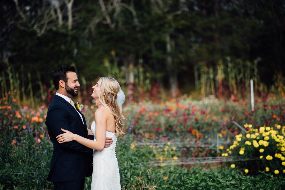 first-look Becky and Alex | Green Door Gourmet - Fall Nashville Wedding