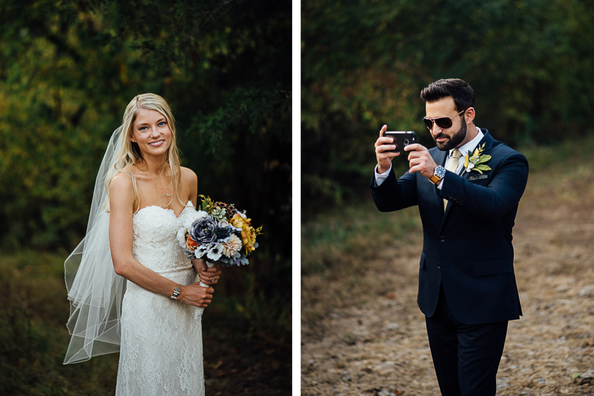 groom-photographing-bride Becky and Alex | Green Door Gourmet - Fall Nashville Wedding