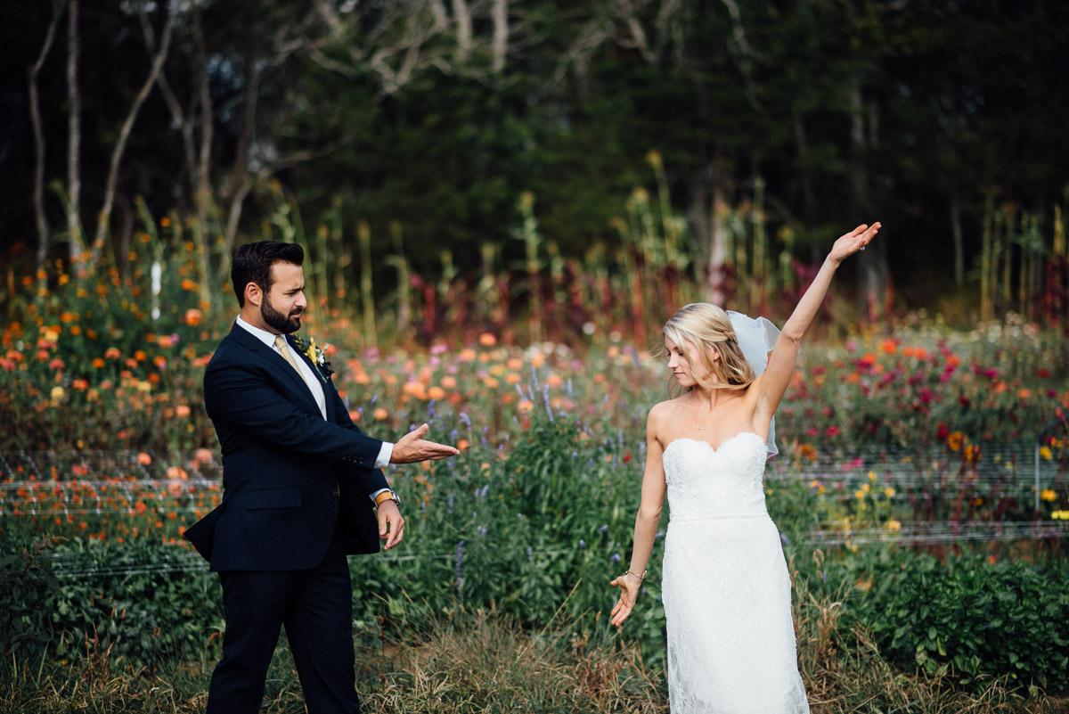 groom-showing-off-bride Becky and Alex | Green Door Gourmet - Fall Nashville Wedding