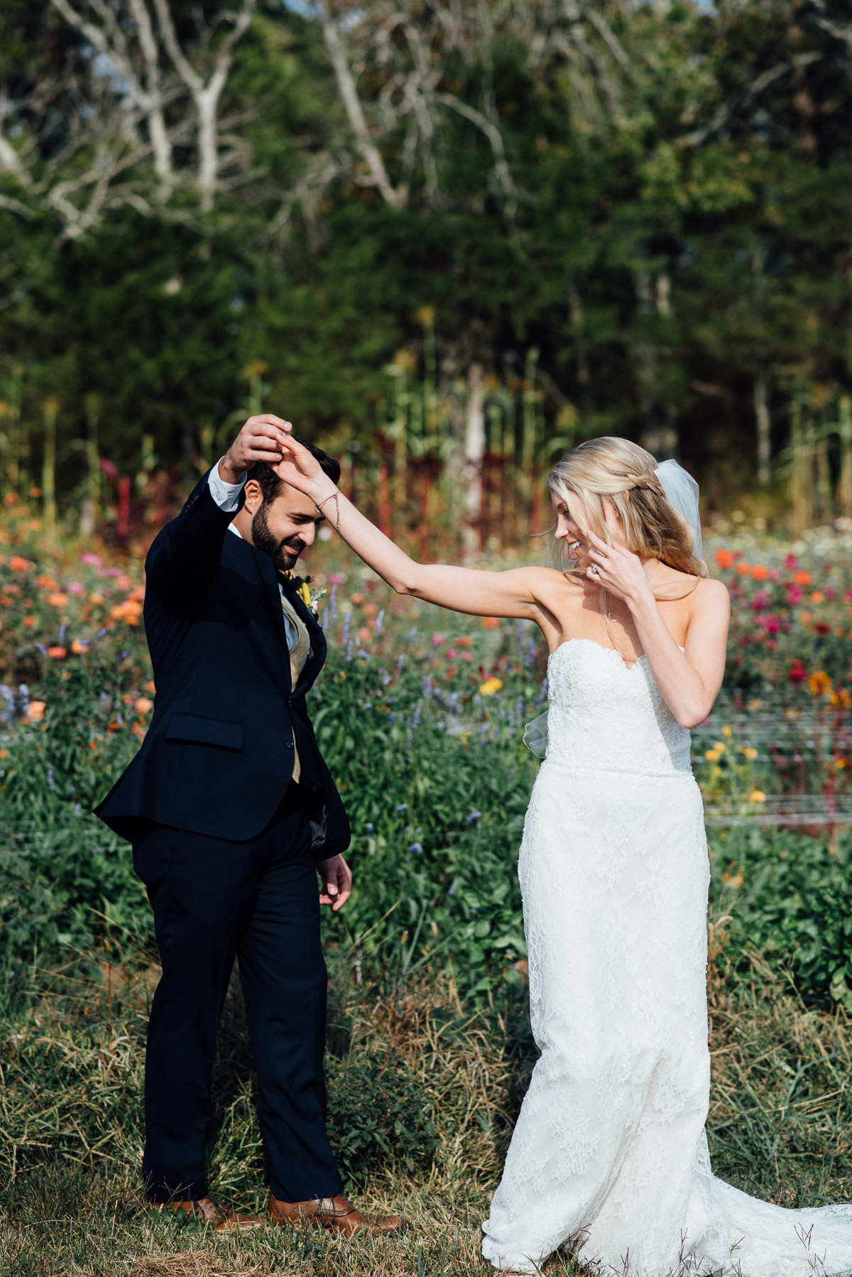 groom-twirling-bride Becky and Alex | Green Door Gourmet - Fall Nashville Wedding