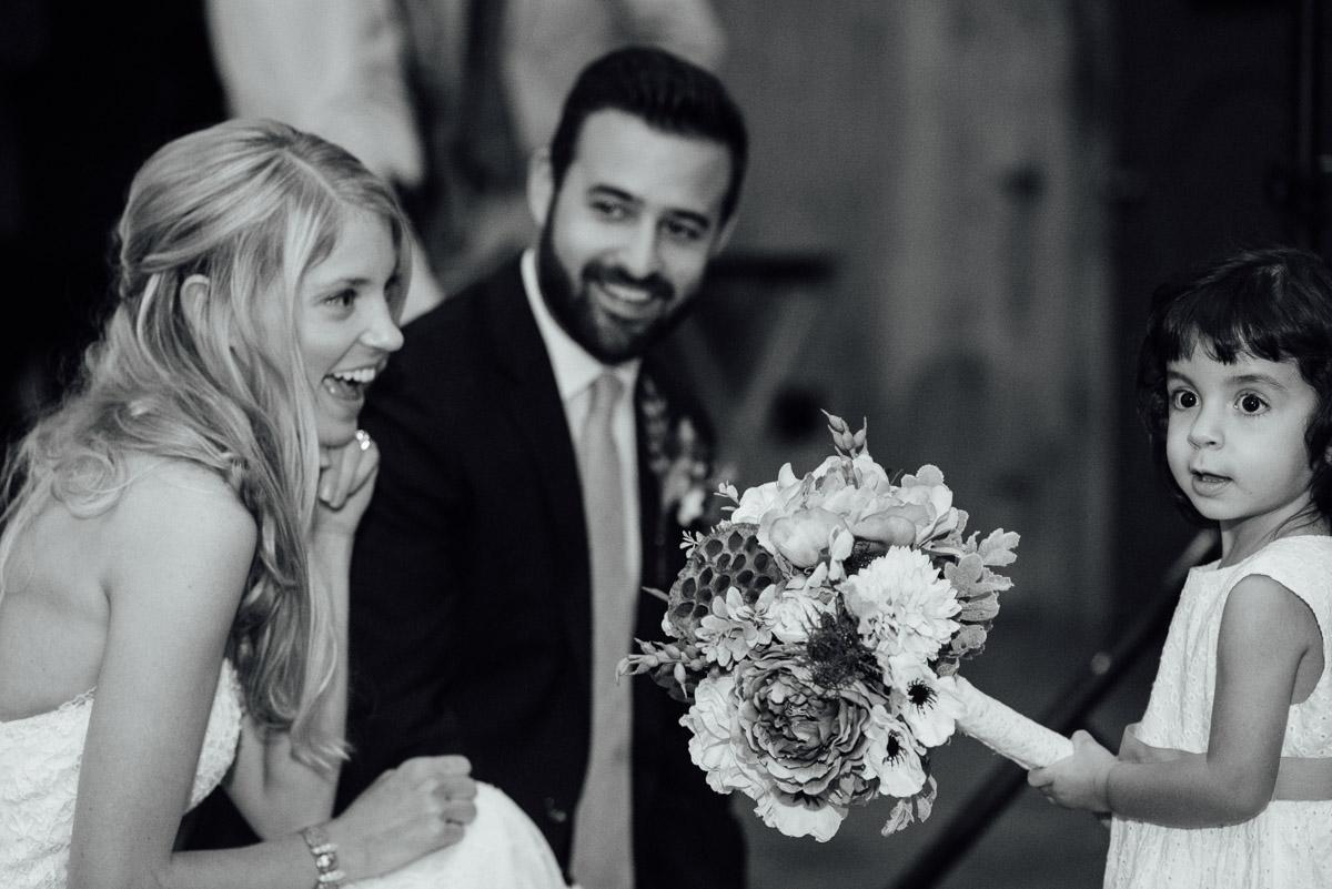 little-girl-with-bride Becky and Alex | Green Door Gourmet - Fall Nashville Wedding