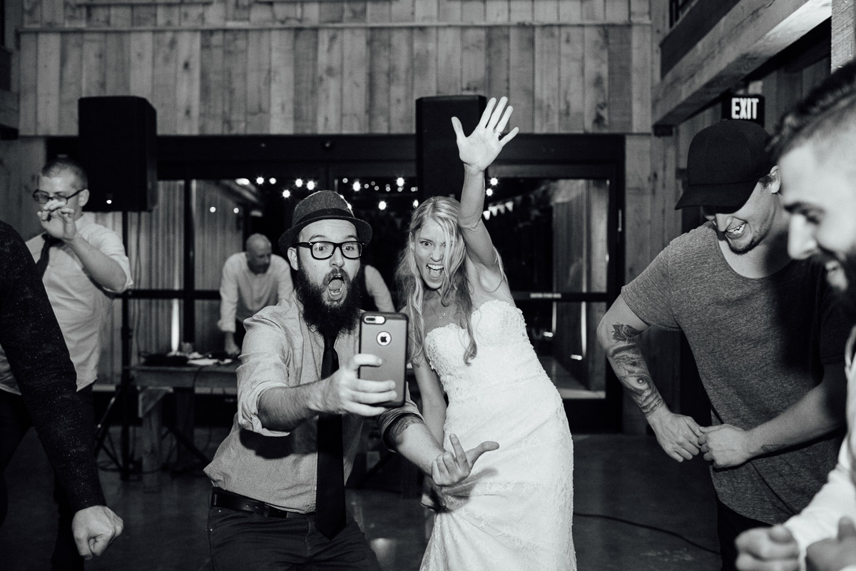 photographer-taking-selfie-with-bride Becky and Alex | Green Door Gourmet - Fall Nashville Wedding