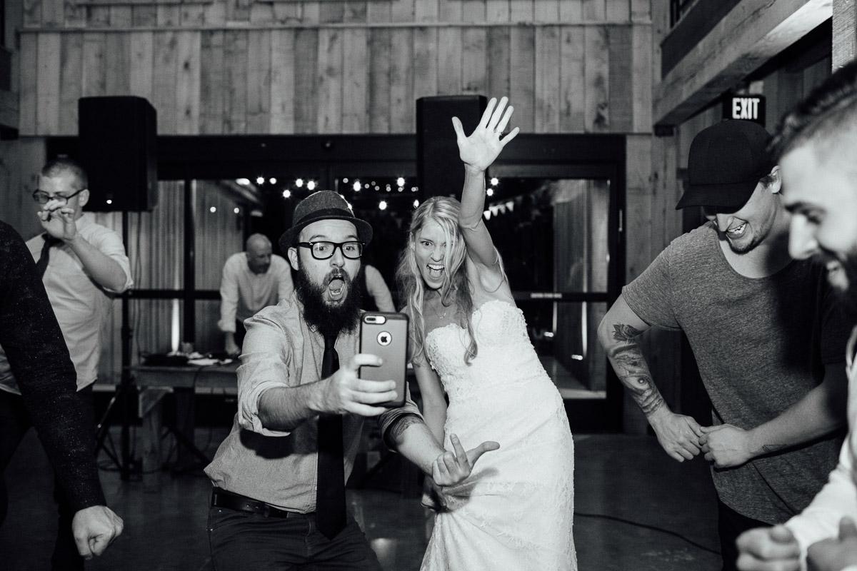 photographer-taking-selfie-with-bride Becky and Alex | Green Door Gourmet - Fall Nashville Wedding