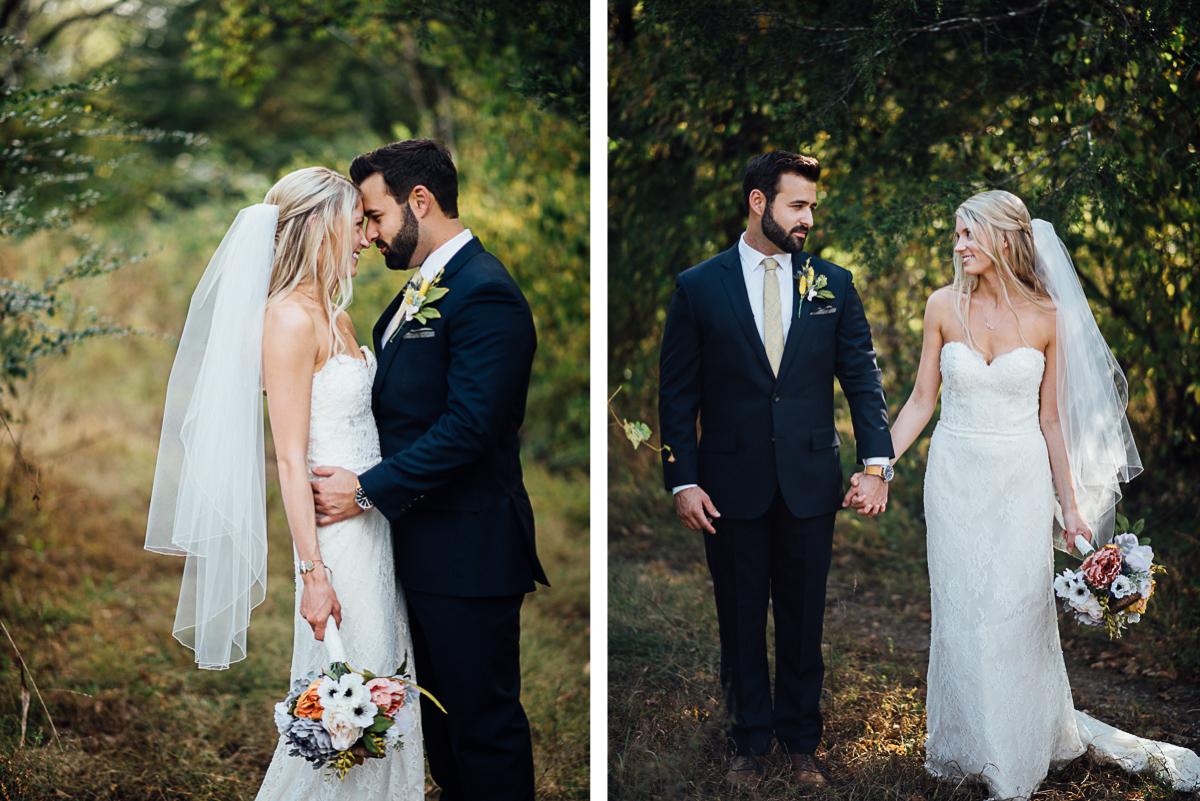 wedding-portrait Becky and Alex | Green Door Gourmet - Fall Nashville Wedding